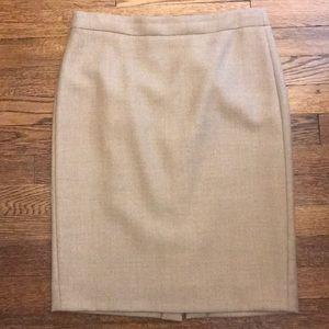 J Crew camel color wool Pencil skirt